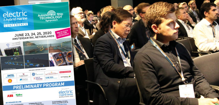 Electric & Hybrid Marine World Expo 2020 preliminary conference program released!