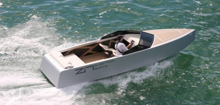 Zin Boats electric speedboat