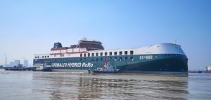 Italian line receives first of 12 hybrid ro-ro vessels