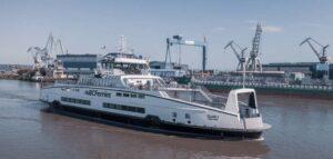 Fourth BC Ferries hybrid Island Class ferry begins transatlantic voyage
