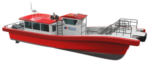 Hybrid propulsion daughter craft for UK offshore wind industry